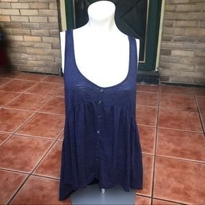 American Eagle Button Front Racerback Tank Top